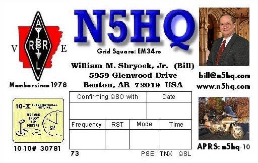 This is a previous QSL Card